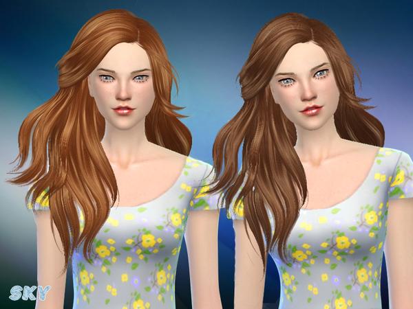 Sims 4 Annie hair 281 by Skysims at TSR