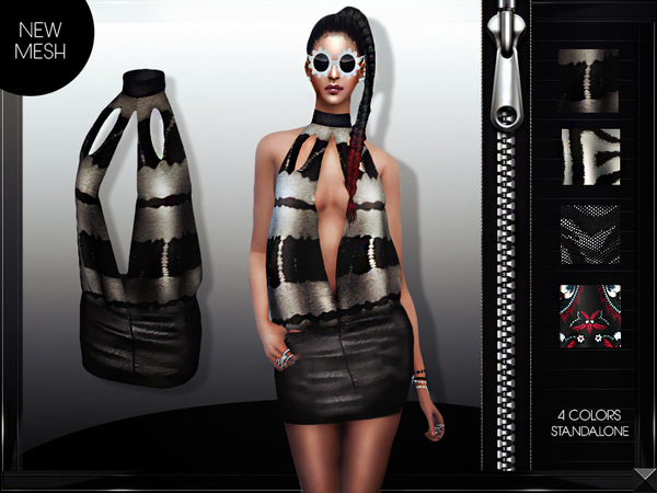 MFS Jenny Dress by MissFortune at TSR image 520 Sims 4 Updates