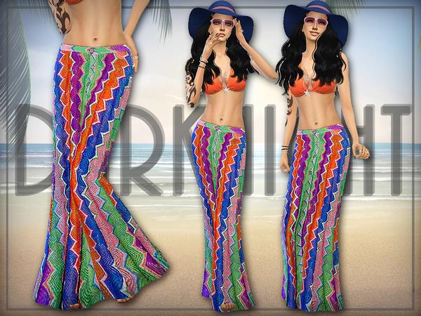 Crochet Knit Maxi Skirt by DarkNighTt at TSR image 529 Sims 4 Updates