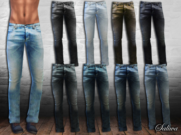 Sims 4 Men Fit Realistic Jeans by Saliwa at TSR