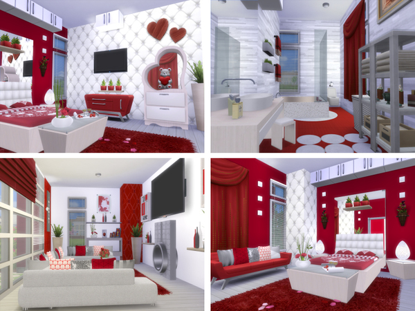 Sims 4 Red Escape house by lenabubbles82 at TSR