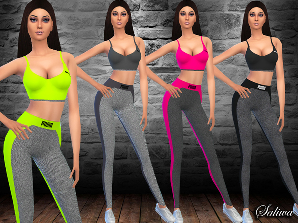 Fitness Outfit By Saliwa At Tsr 187 Sims 4 Updates