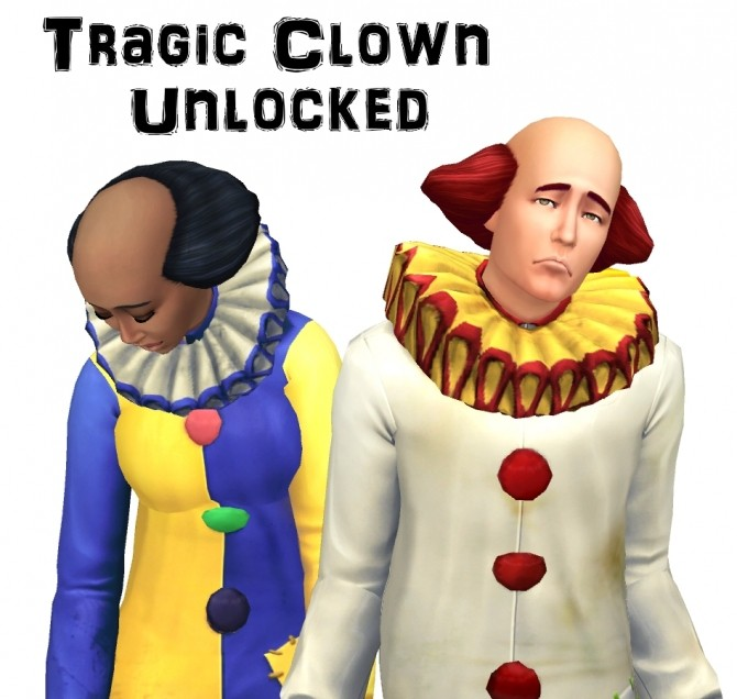Tragic Clown Unlocked by VentusMatt at Mod The Sims image 5620 670x636 Sims 4 Updates