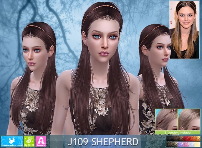 Sims 4 J109 Shepherd hair (Pay) at Newsea Sims 4