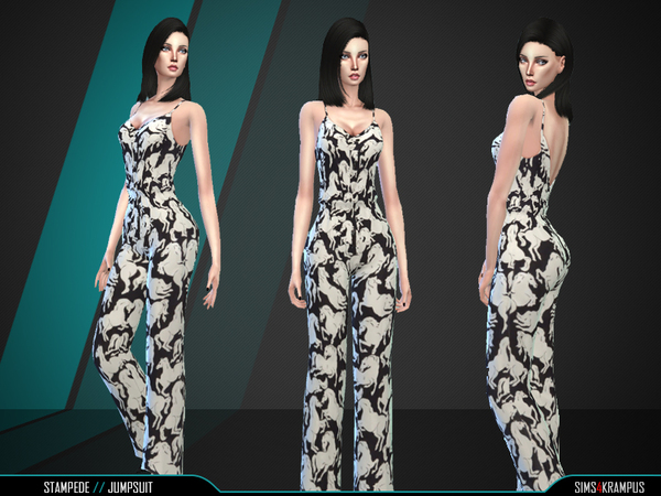 Stampede Jumpsuit by SIms4Krampus at TSR image 59 Sims 4 Updates