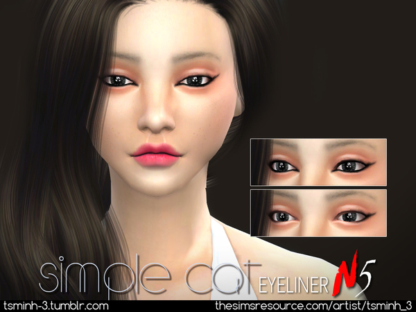 Simple Cat Eyeliner by tsminh 3 at TSR image 595 Sims 4 Updates