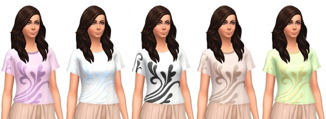 Sims 4 Romantic Garden Patterned Blouse Specular Override by VentusMatt at Mod The Sims