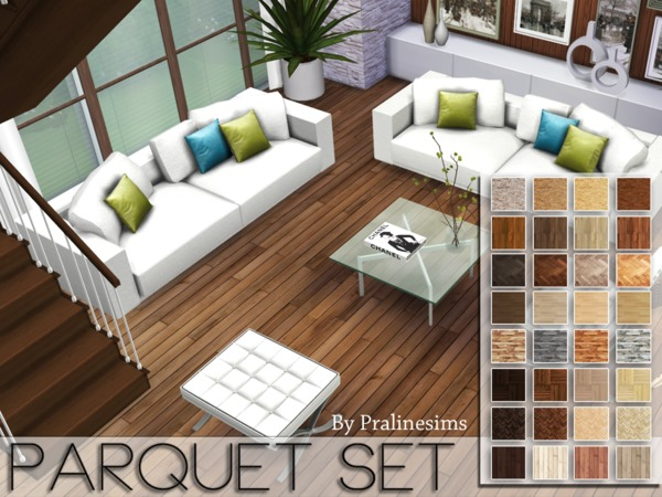 Parquet Floors Set by Pralinesims at TSR image 6104 Sims 4 Updates