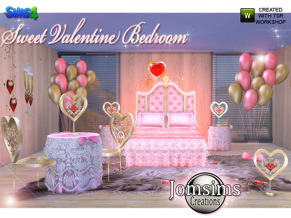 Sweet Valentine Bedroom by jomsims at TSR image 627 Sims 4 Updates