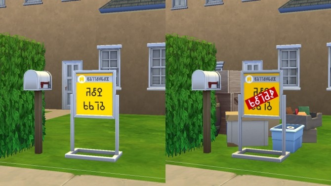 Sims 4 Yellowbox Real Estate Starter Pack signs by Deontai at Mod The Sims