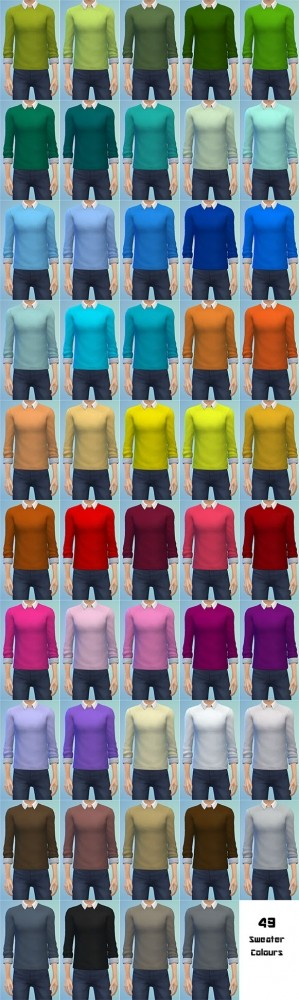 Tucked Collared Shirt with Sweater by Bronwynn at Mod The Sims image 6311 299x1000 Sims 4 Updates