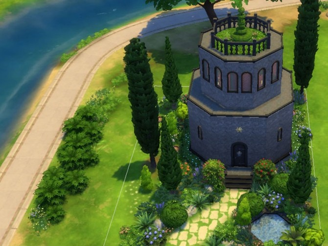 Sims 4 Byzantine inspired Baptistry by Tadala at Mod The Sims