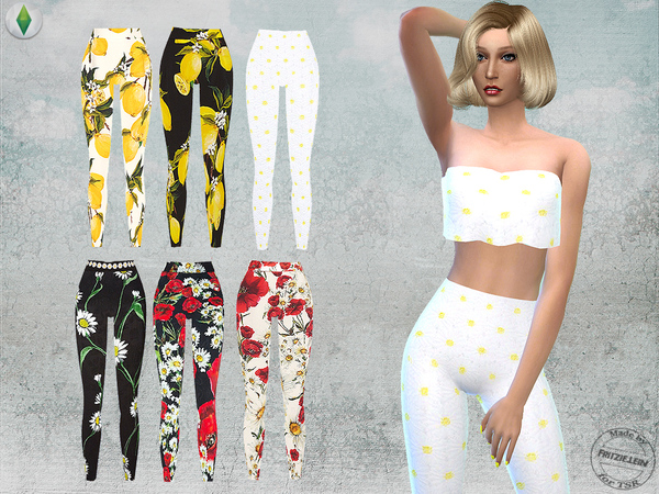 floral printed outfit set by fritzie lein at tsr sims 4 updates. Black Bedroom Furniture Sets. Home Design Ideas