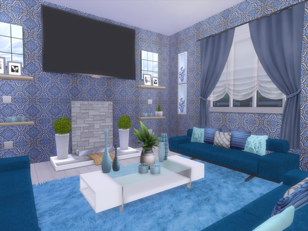 Sims 4 Modern Country house by lenabubbles82 at TSR