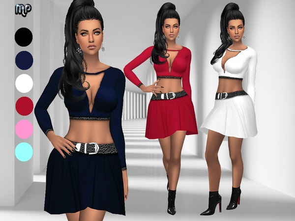 Sims 4 MP Low Cleavage Outfit at BTB Sims – MartyP