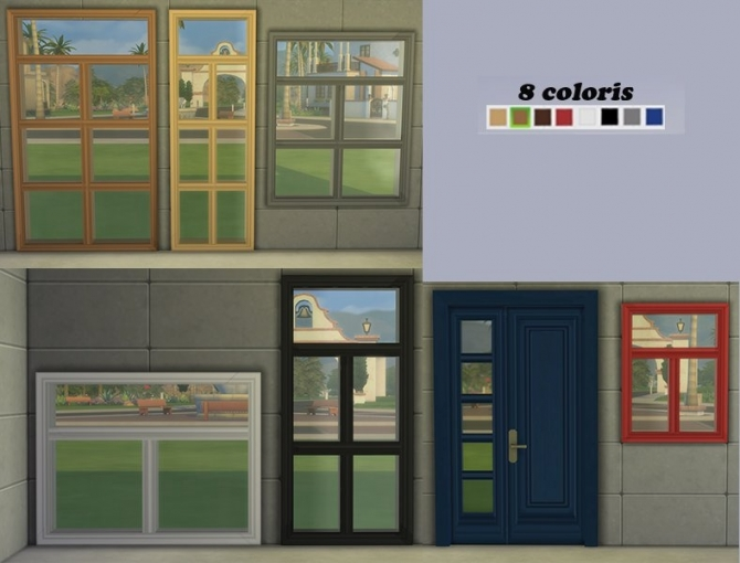 Alanis Windows And Door Set By Maman Gateau At Sims