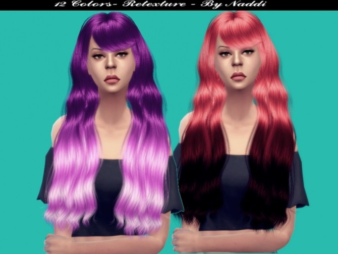 Sims 4 My Retexture Hair V5 by Naddiswelt at TSR
