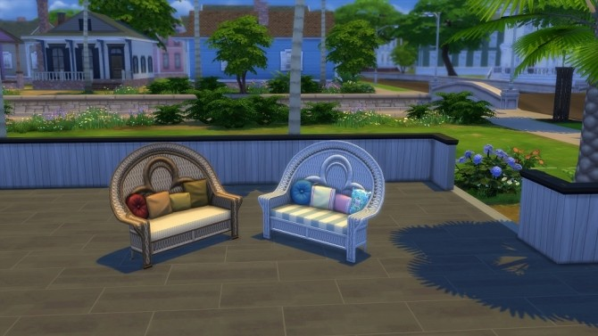 Island Loving Love Seat 20 Recolors by blueshreveport at Mod The Sims image 695 670x377 Sims 4 Updates
