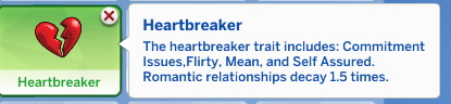 Sims 4 Heartbreaker Trait by Manic Pinkie Pie at Mod The Sims