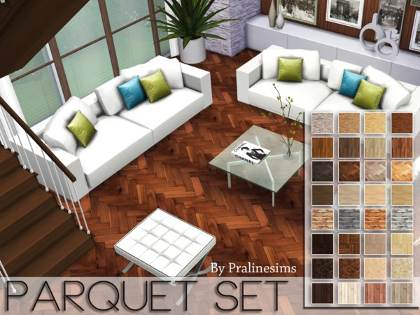 Parquet Floors Set by Pralinesims at TSR image 7103 Sims 4 Updates