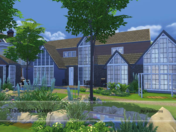 Traditional Living home by Juulssims at TSR image 715 Sims 4 Updates