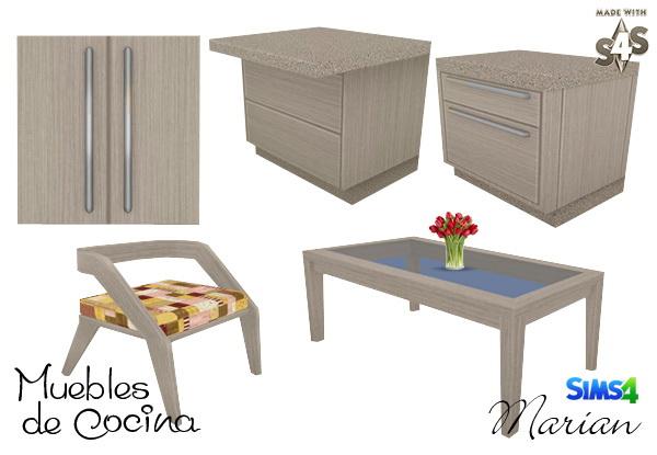 Sims 4 Kitchen furniture at Marian Ezequiela