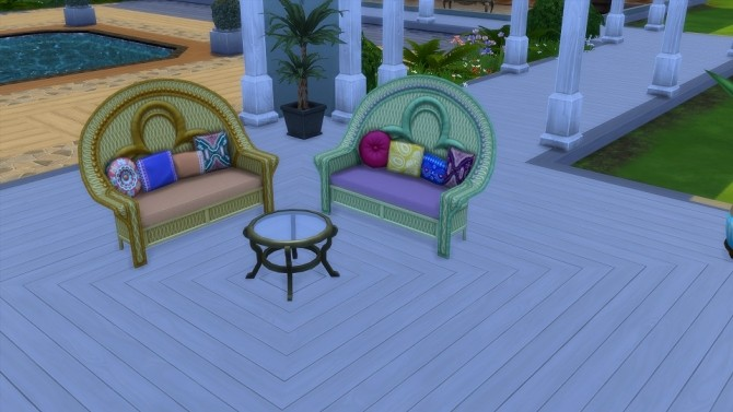 Island Loving Love Seat 20 Recolors by blueshreveport at Mod The Sims image 725 670x377 Sims 4 Updates