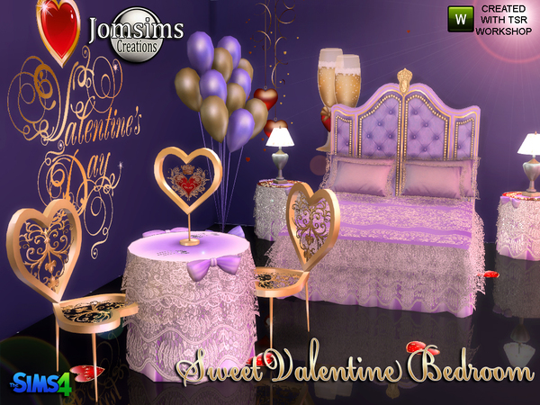 Sweet Valentine Bedroom by jomsims at TSR image 727 Sims 4 Updates
