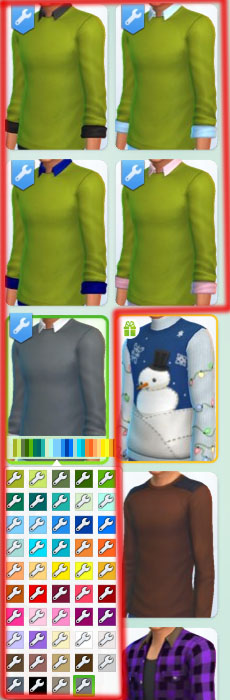 Sims 4 Untucked Collared Shirt with Sweater by Bronwynn at Mod The Sims