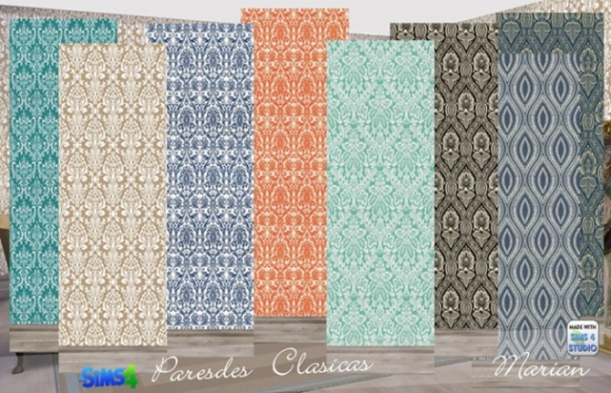 Sims 4 Classical walls at Marian Ezequiela