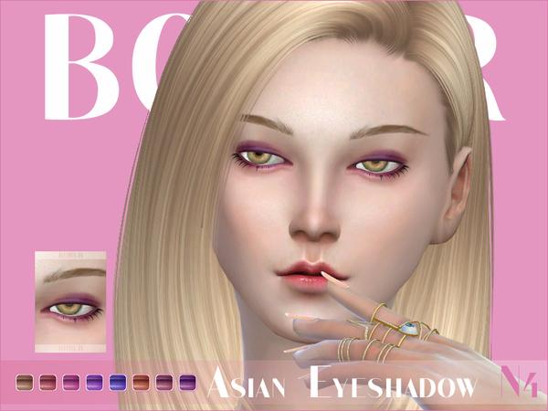 Sims 4 Asian Eyeshadow N04 by Bobur at TSR