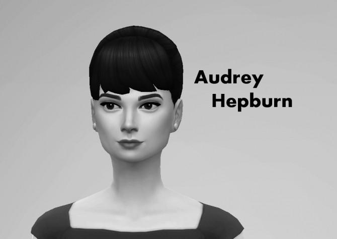 Sims 4 Audrey Hepburn (No CC) by Niharika.Basu at Mod The Sims