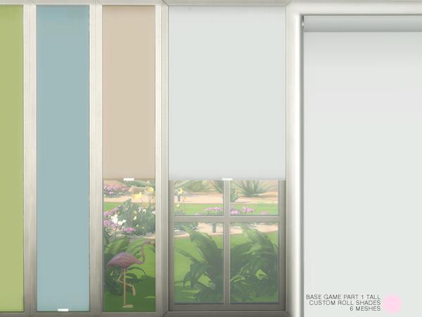 Sims 4 Custom Roll Shades Tall by DOT at TSR