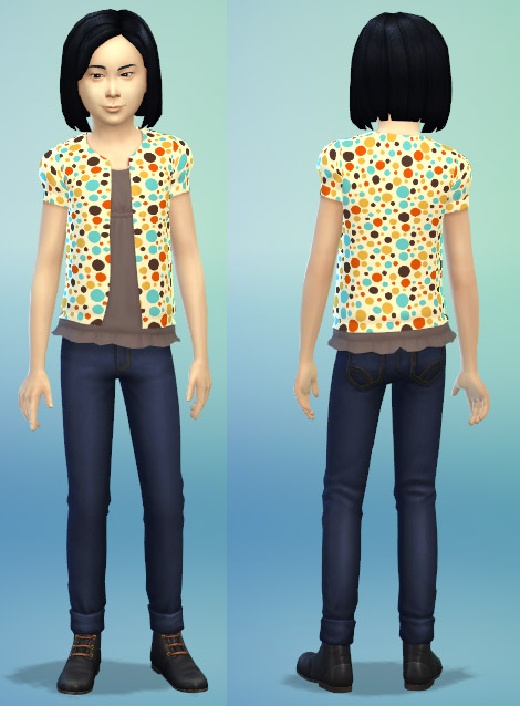 Retro Girls Short Puff Cardigan Recolors by silversurealism at Mod The Sims image 7615 Sims 4 Updates