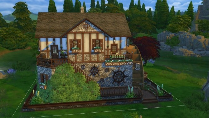 Old mill pub by mykuska at mod the sims sims 4 updates for Classic house sims 4