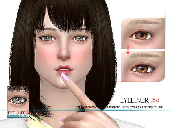 Sims 4 Eyeliner 08 by S Club WM at TSR
