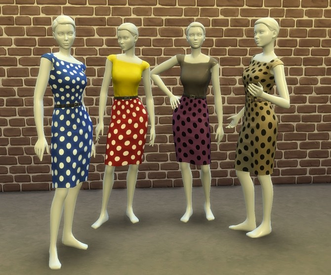 Two Tone Dress with Polka Dots by Bronwynn at Mod The Sims image 7711 670x556 Sims 4 Updates