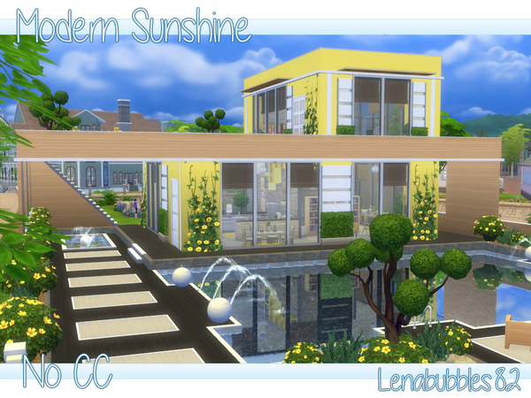 Sims 4 Modern Sunshine house by lenabubbles82 at TSR