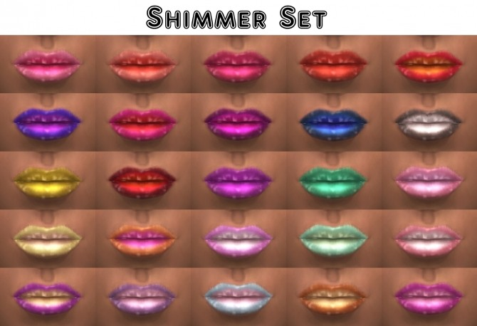 Sims 4 Kiss Me Lipstick Regular & Shimmer Speculars by VentusMatt at Mod The Sims