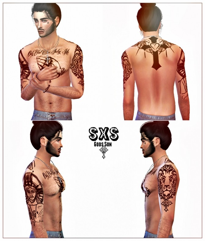 Sims 4 Only God Can Judge Me Tattoo by StreetxSims at SimsWorkshop