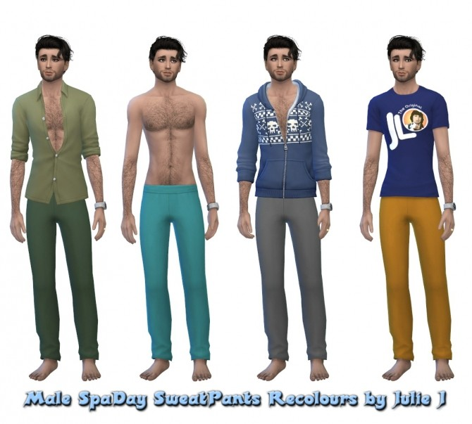 Sims 4 SpaDay SweatPants Recolours at Julietoon – Julie J