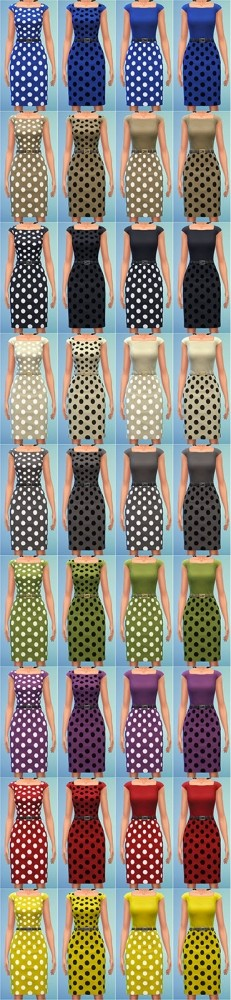 Two Tone Dress with Polka Dots by Bronwynn at Mod The Sims image 7911 231x1000 Sims 4 Updates