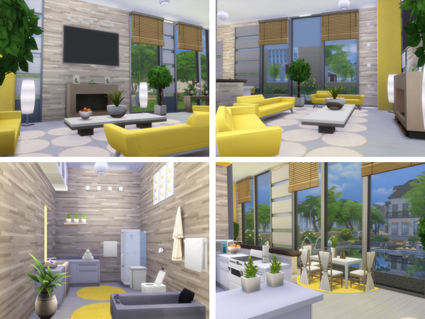 Modern Sunshine house by lenabubbles82 at TSR image 7918 Sims 4 Updates
