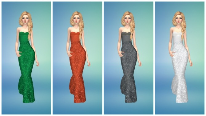 Sims 4 Formal Dress by Annabellee25 at SimsWorkshop