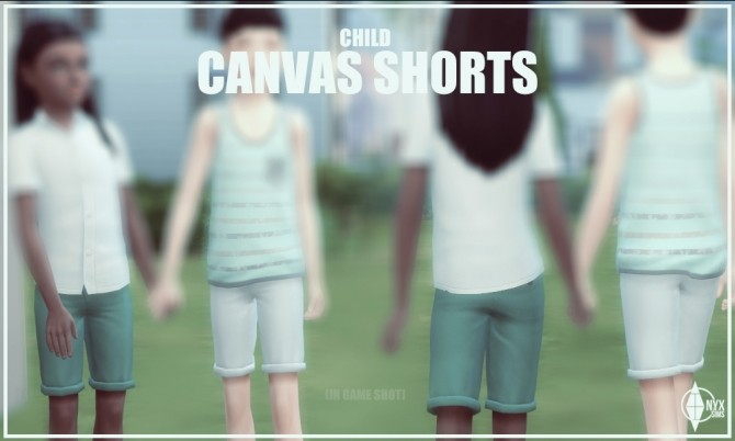 Canvas Shorts for Kids at Onyx Sims image 808 670x402 Sims 4 Updates