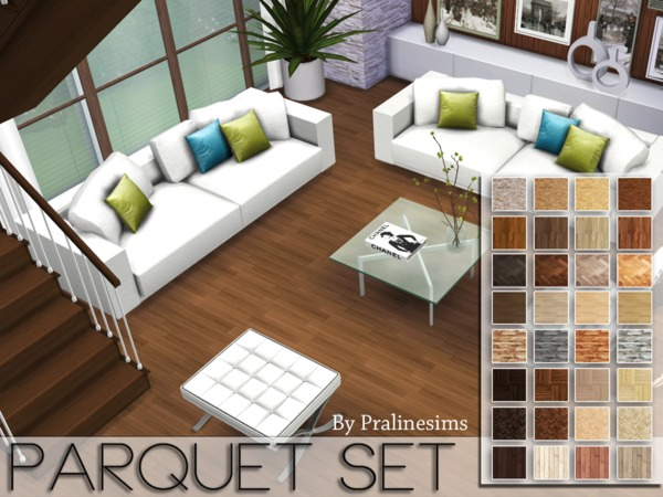 Parquet Floors Set by Pralinesims at TSR image 8103 Sims 4 Updates