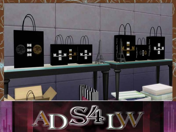 Sims 4 Shopping Bags Müller Company by Adlw Simiesk Art at SimsWorkshop