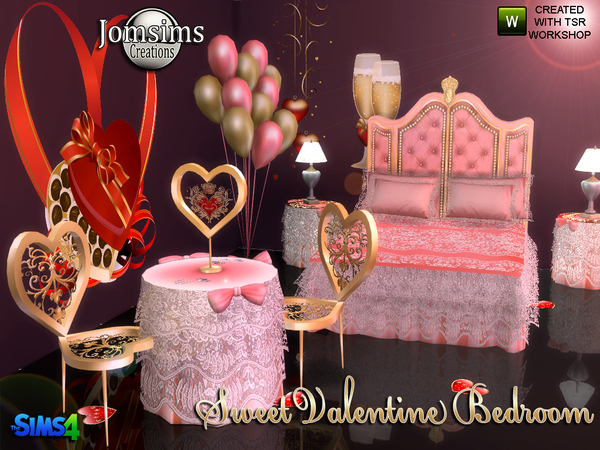 Sweet Valentine Bedroom by jomsims at TSR image 827 Sims 4 Updates