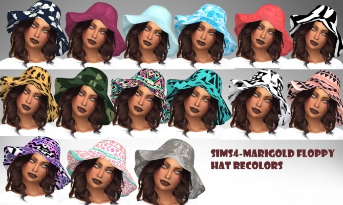 Sims 4 Marigold's Floppy Hat Recolor at MXFSims