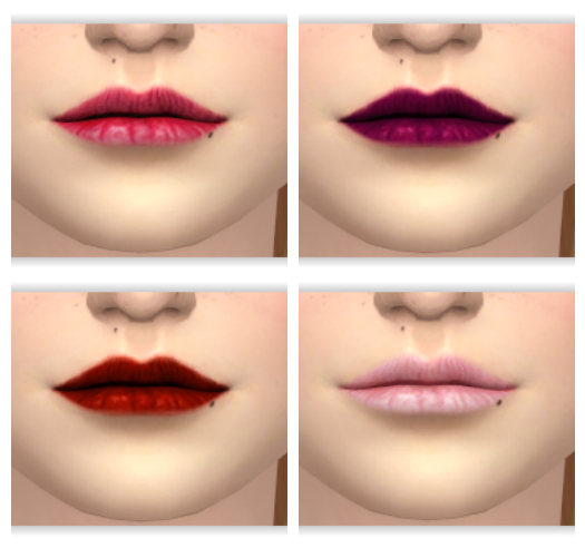 Sims 4 Matte Lipstick by Annabellee25 at SimsWorkshop